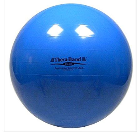 Thera-Band Exercise Balls - SDS Anti-Burst Exercise Ball - Blue - 75 cm - For Body Height 6 2 - 6 8