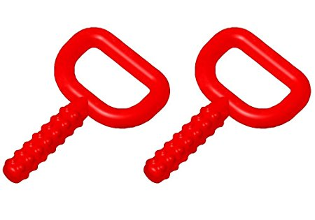 Chewy Tubes Super Chew Knobby, 2 Pack, Red