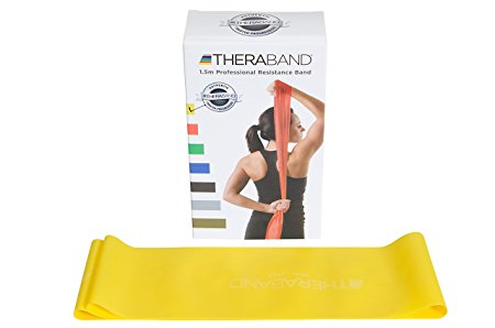 Theraband Yellow Thin / Light Resistance Latex Free Exercise Band