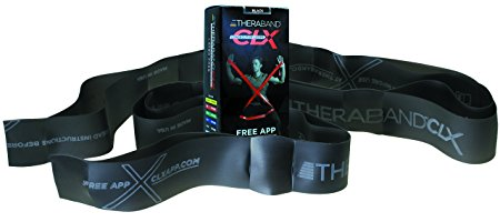 TheraBand CLX Resistance Band with Loops Fitness Band for Home Exercise and Full Body Workouts Portable Gym Equipment