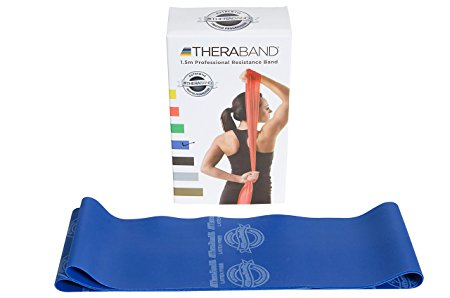 Theraband Blue / Extra Heavy Resistance Latex Free Exercise Band