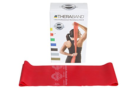 Theraband Red/ Medium Resistance Latex Free Exercise Band