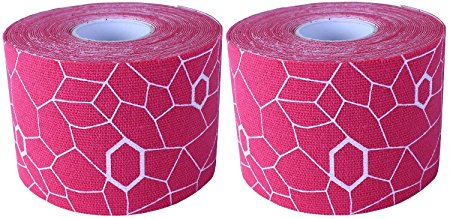 Theraband Kinesiology Tape - 2 x 16.4 Feet - Pink White - 2 Rolls