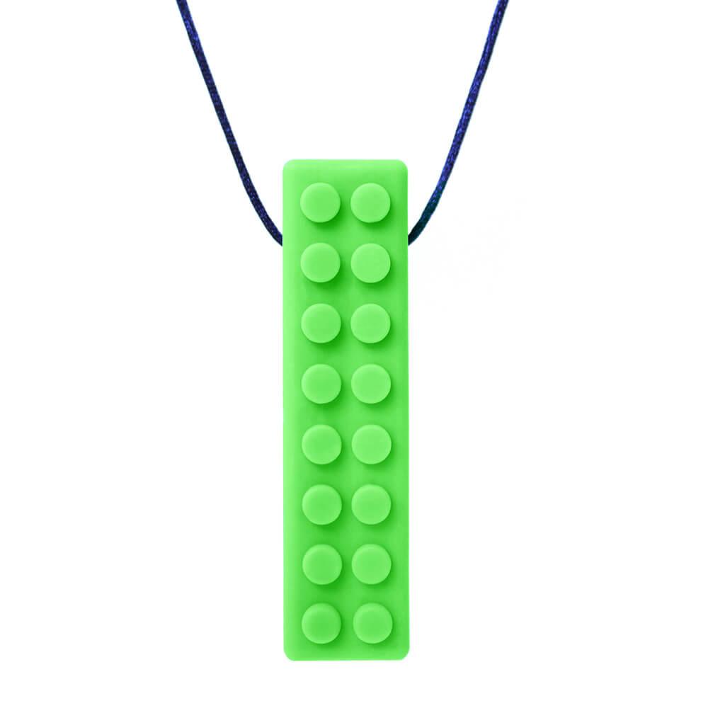 ARK's Brick Stick™ XT Textured Chew Necklace (Green, Xtra Tough)